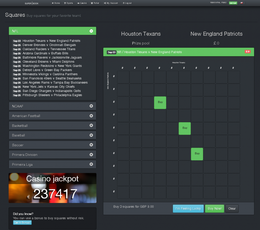 Square game betting online on the bet lyrics